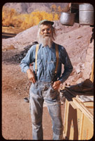 Jack W. Holley at home near Moab, Utah