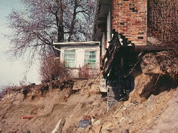 Damaged house image